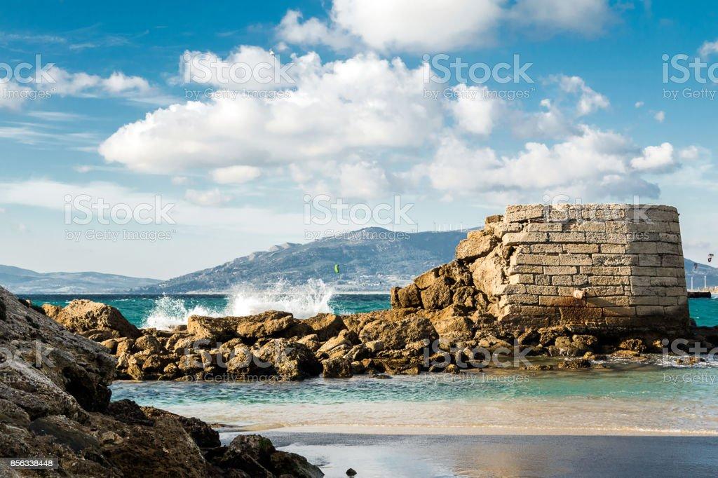 Phoenician port, Tarifa, Spain. stock photo