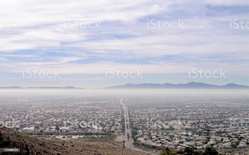 Phoenix Air Pollution royalty-free stock photo