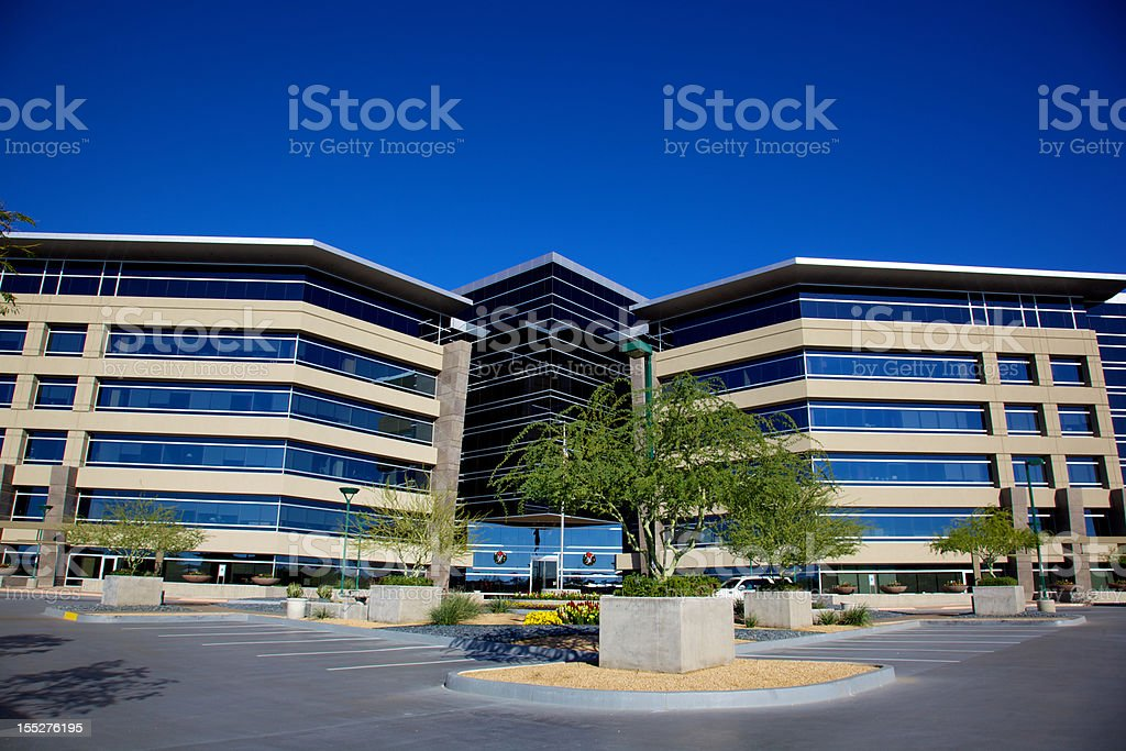 Phoenix area Christmas Business Financial Office Building in Scottsdale Arizona royalty-free stock photo