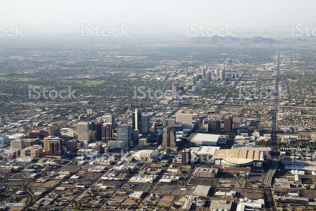 Phoenix, Arizona aerial view royalty-free stock photo