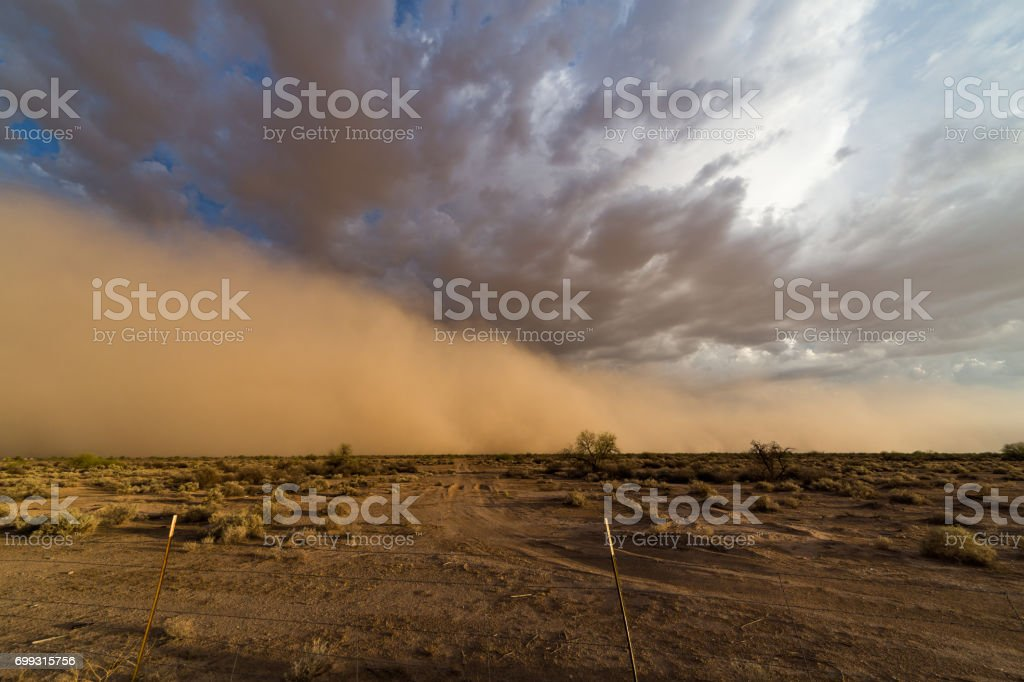 Phoenix, Arizona monsoon dust storm stock photo