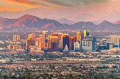 istock Phoenix, Arizona skyline at dusk 1288752517