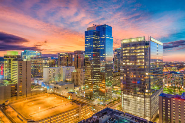 Phoenix, Arizona, USA Cityscape stock photo