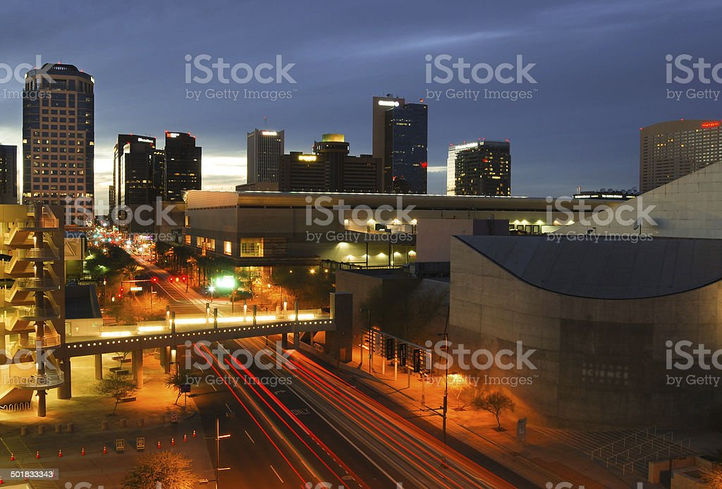 Phoenix, AZ skyline stock photo