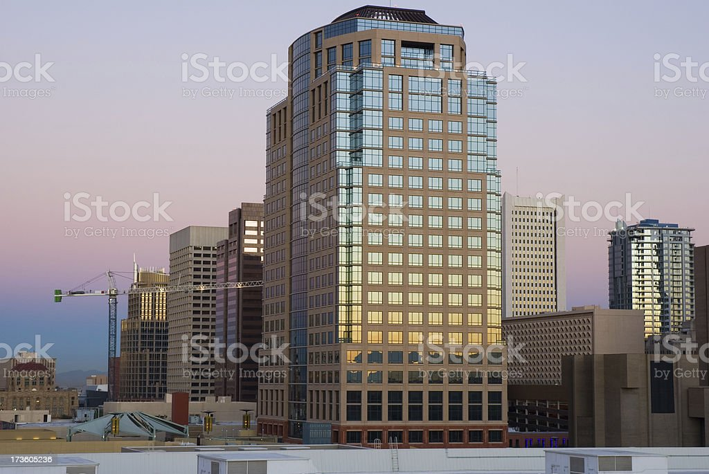 Phoenix Downtown at Dawn royalty-free stock photo
