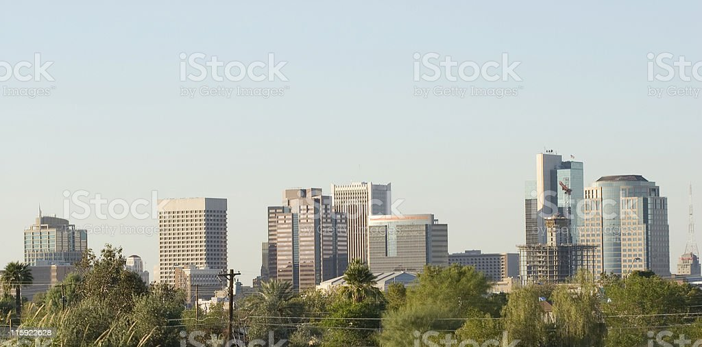 Phoenix Downtown Panorama royalty-free stock photo