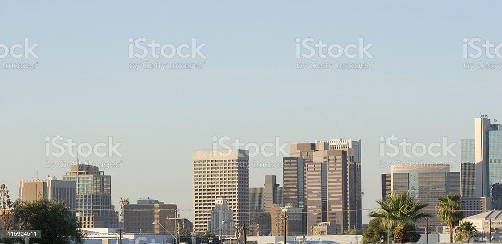 Phoenix Downtown Panorama royalty-free stock photo