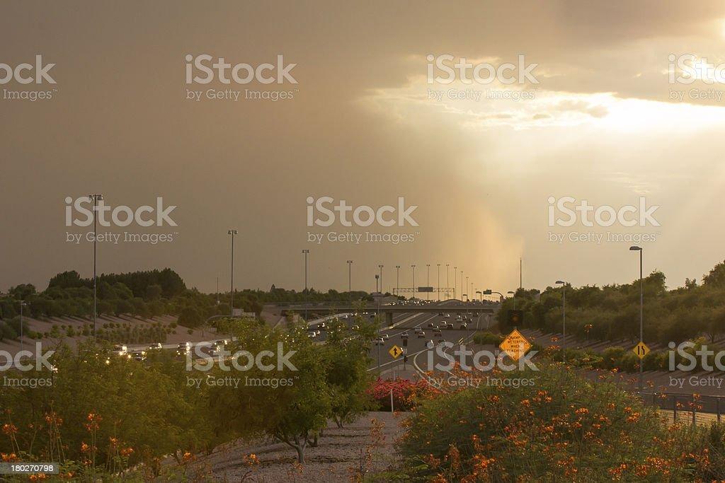 Phoenix Dust Storm stock photo