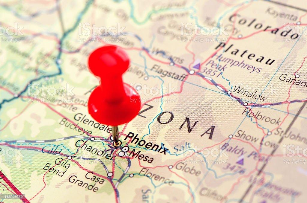 Phoenix map stock photo