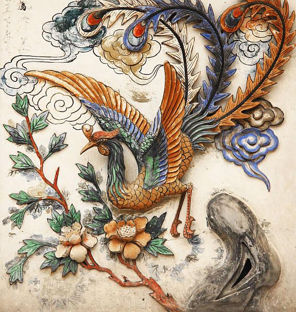 Phoenix en una pared - foto de stock
