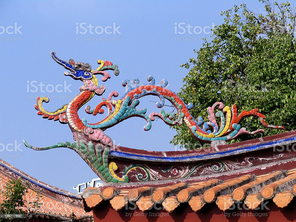 Phoenix on the roof royalty-free stock photo
