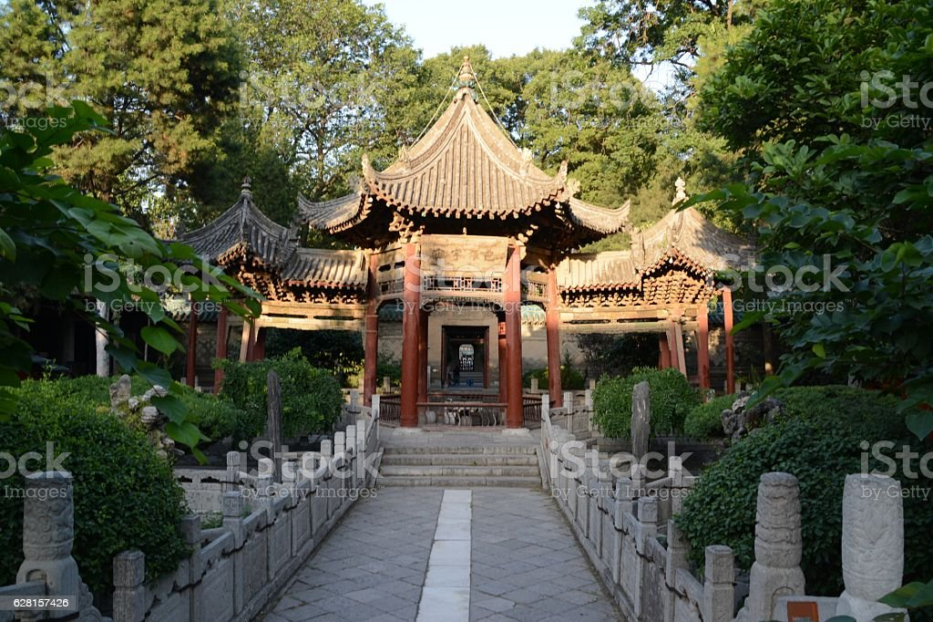 Phoenix Pavilion in the Great Mosque of Xi'an, Shaanxi, China stock photo