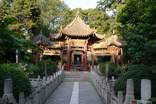 Phoenix Pavilion In The Great Mosque Of Xian Shaanxi China Stock
