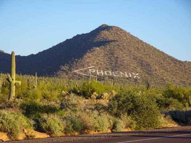 Phoenix sign in Tonto National Forest stock photo