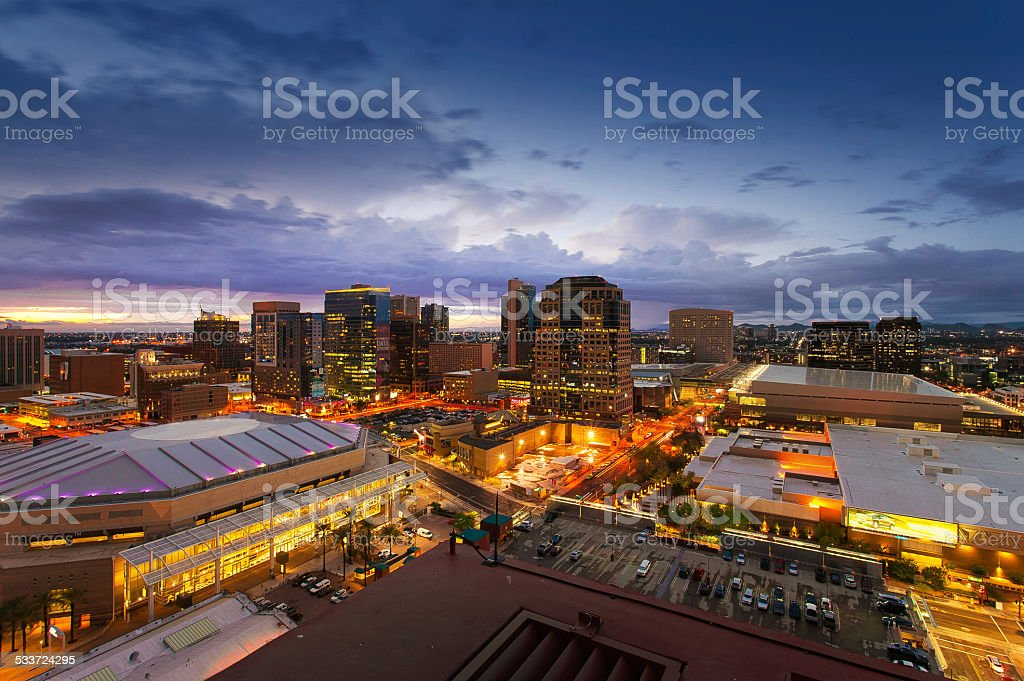 Phoenix Skyline, Arizona stock photo