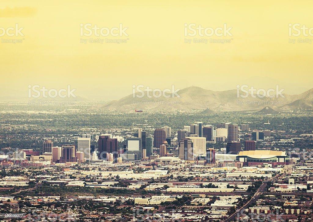 Phoenix skyline at dusk royalty-free stock photo