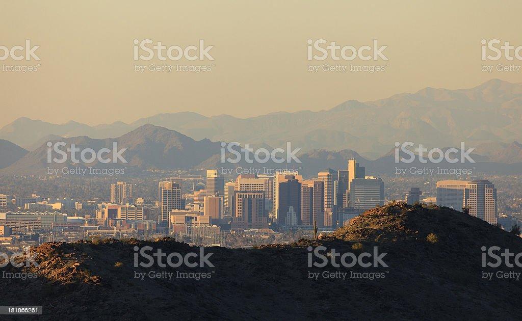 Phoenix Skyline Sunset royalty-free stock photo