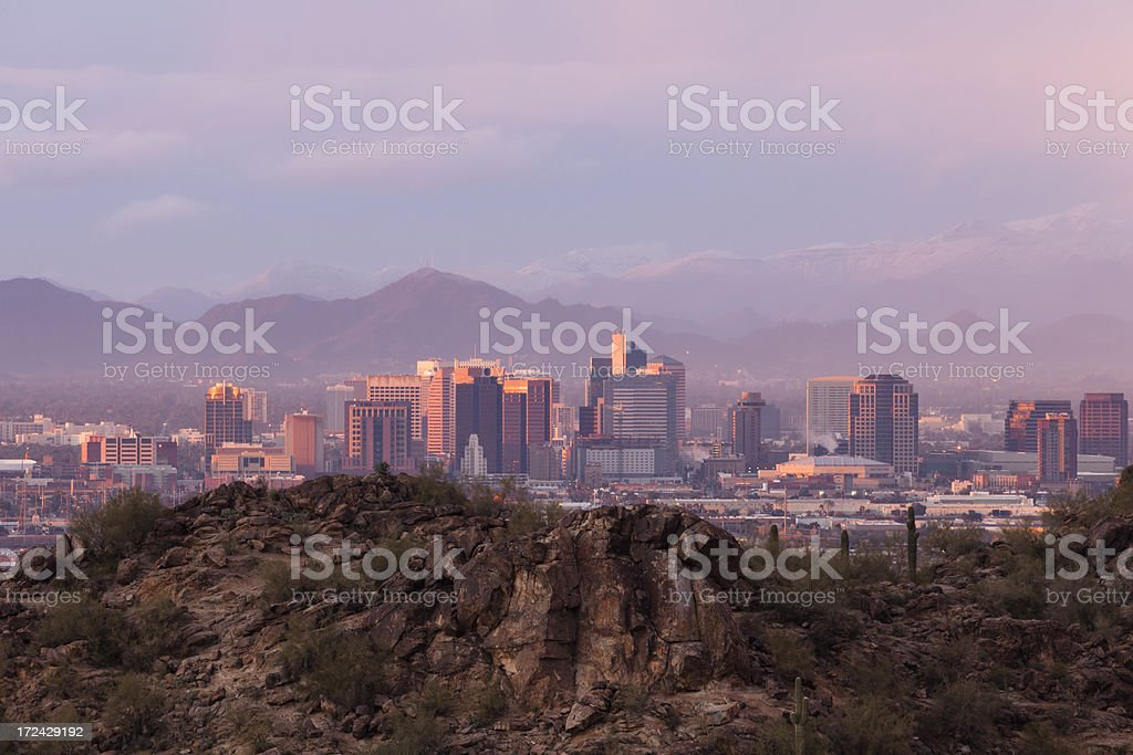 Phoenix Snow Storm royalty-free stock photo