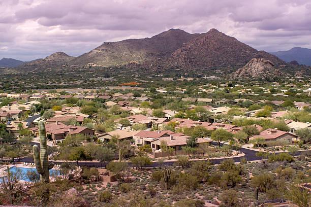 Phoenix,Scottsdale desert community stock photo