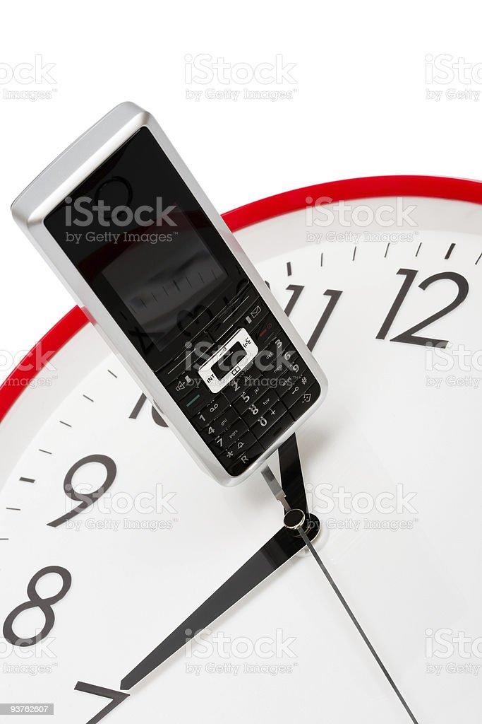 phone and clock royalty-free stock photo