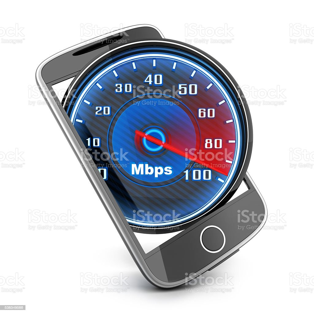 Phone and internet speed stock photo