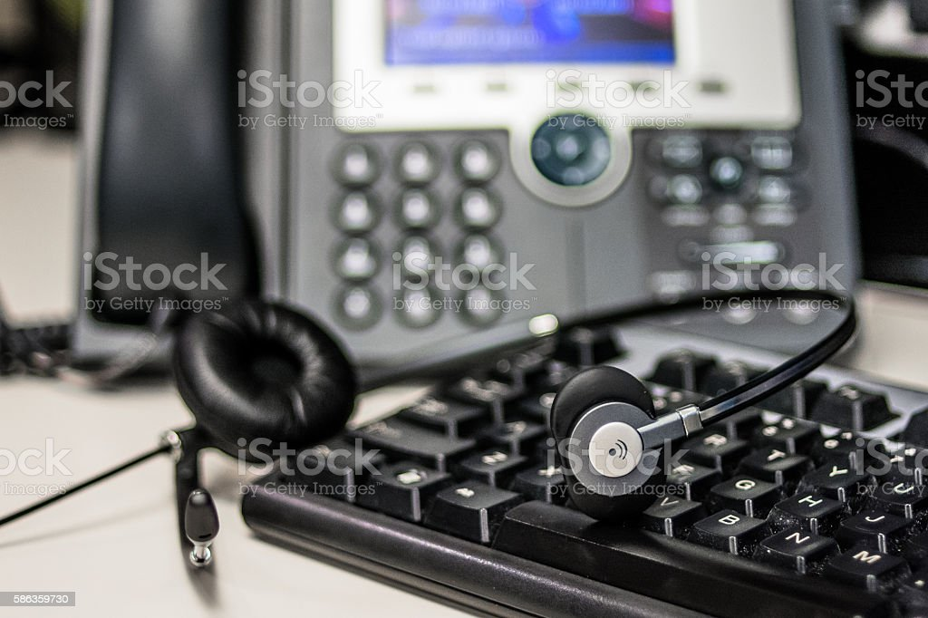 Phone and Keyboard stock photo