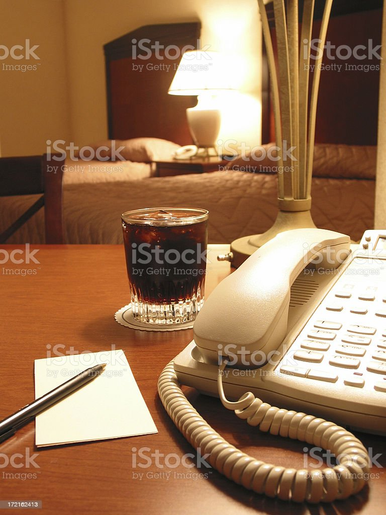 Phone and notepad royalty-free stock photo