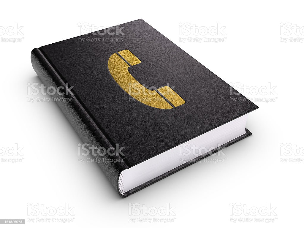 Phone Book (isolated) stock photo