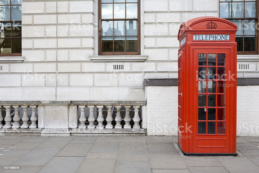 UK phone box stock photo