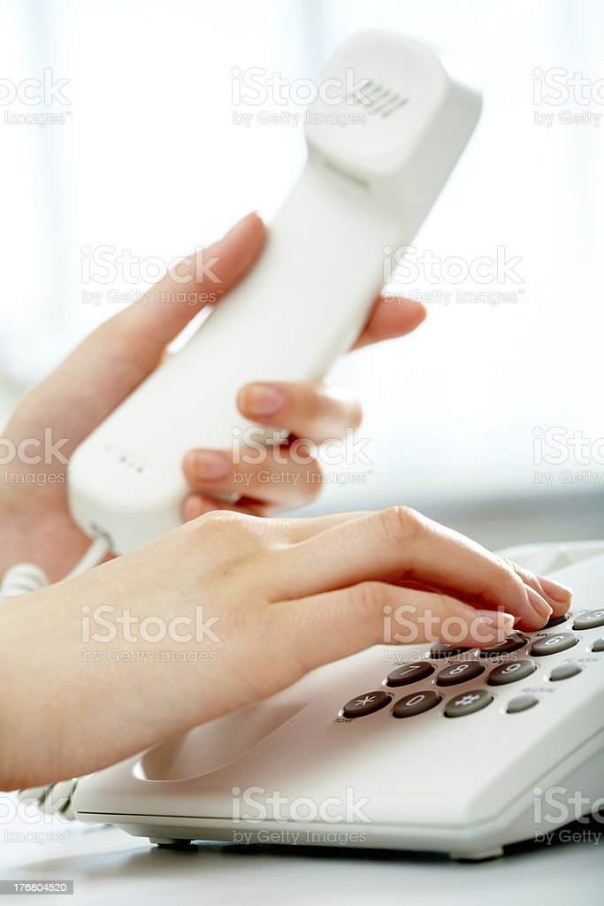 Phone call stock photo