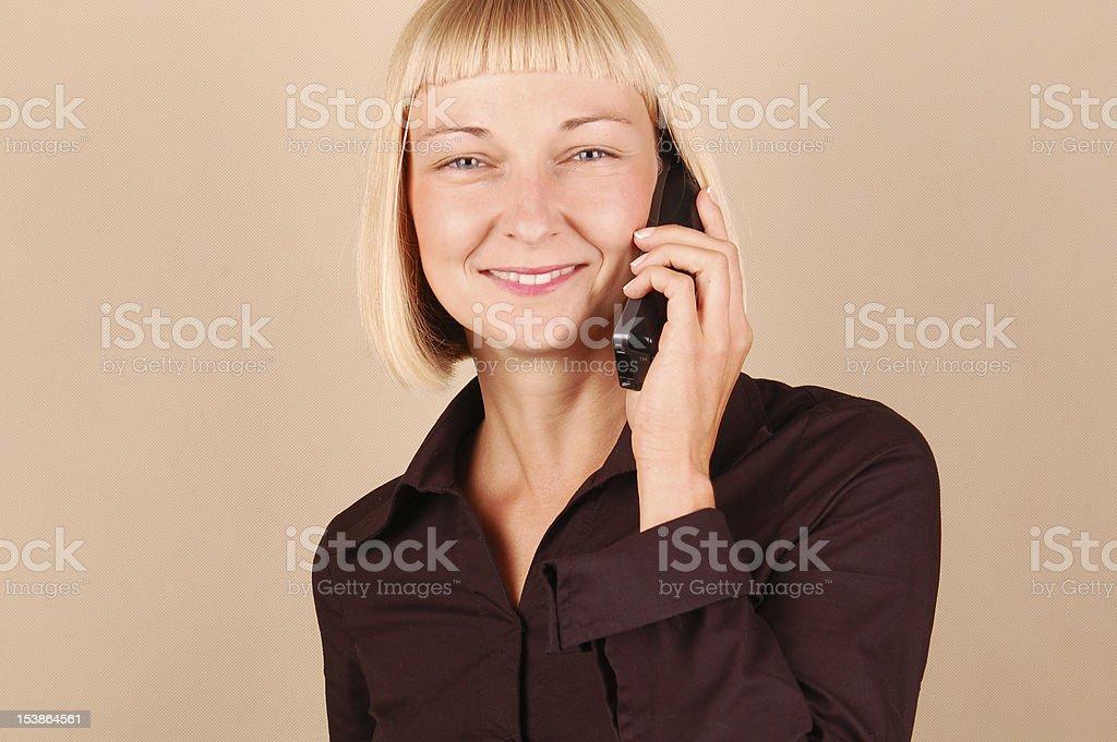 Phone Conversation royalty-free stock photo