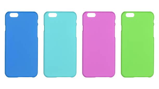 Phone cover. multi colored stock photo