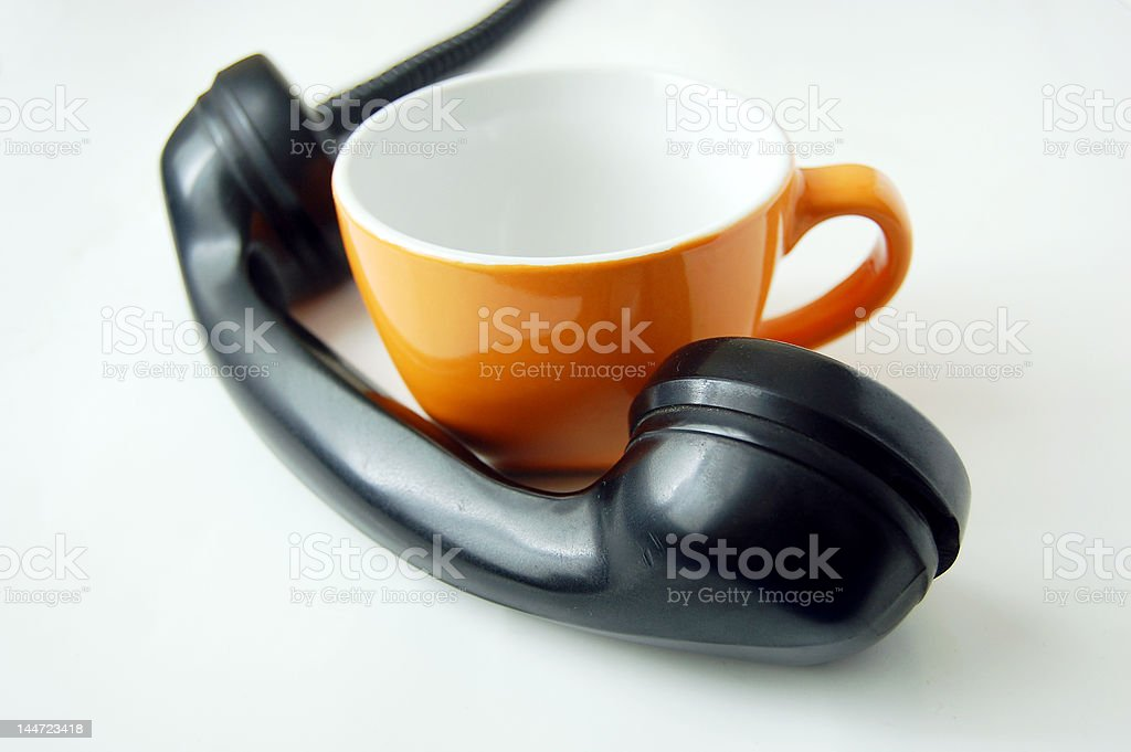 Phone & Cup stock photo