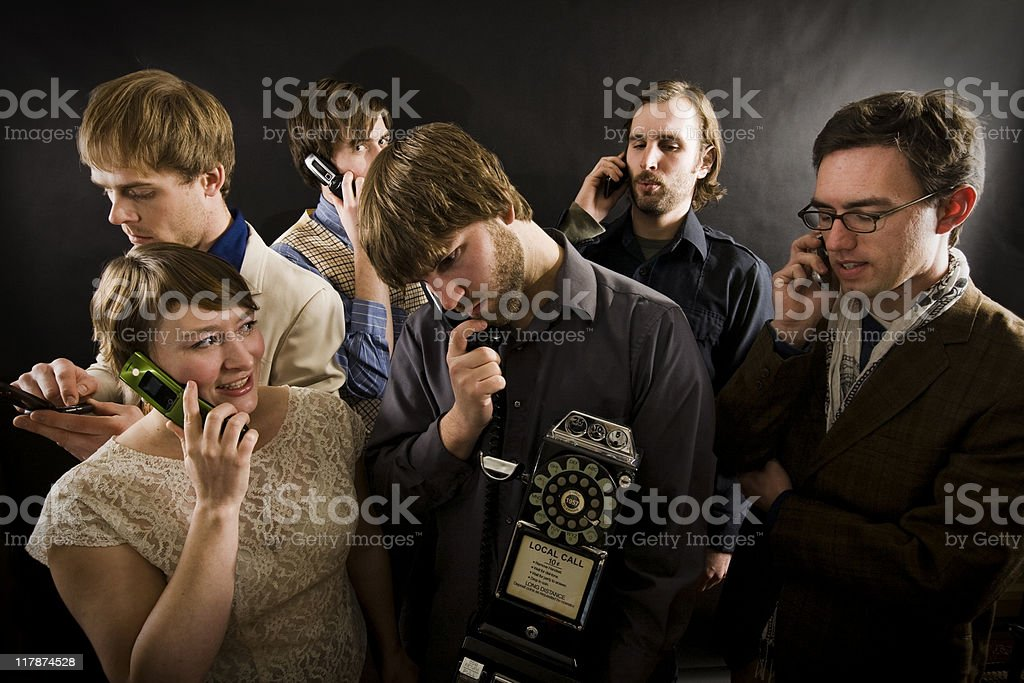 Phone Frenzy royalty-free stock photo