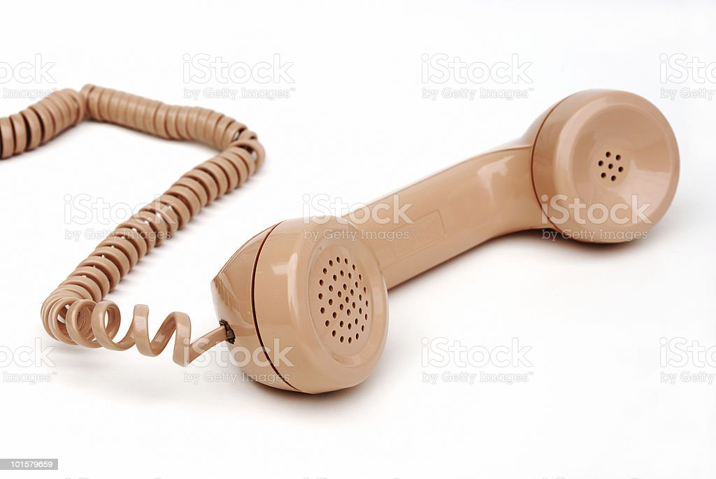 Phone handset royalty-free stock photo