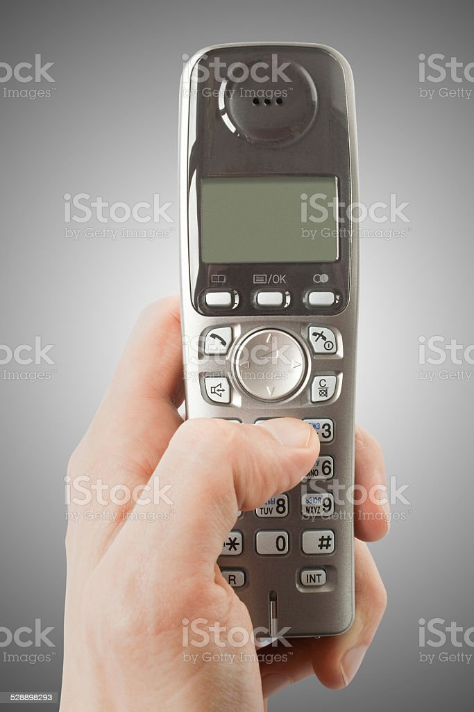 Phone in a hand stock photo