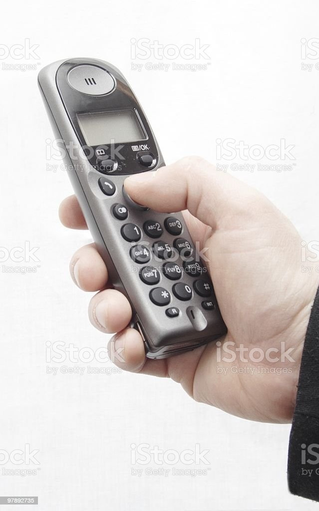 Phone in hand man. royalty-free stock photo