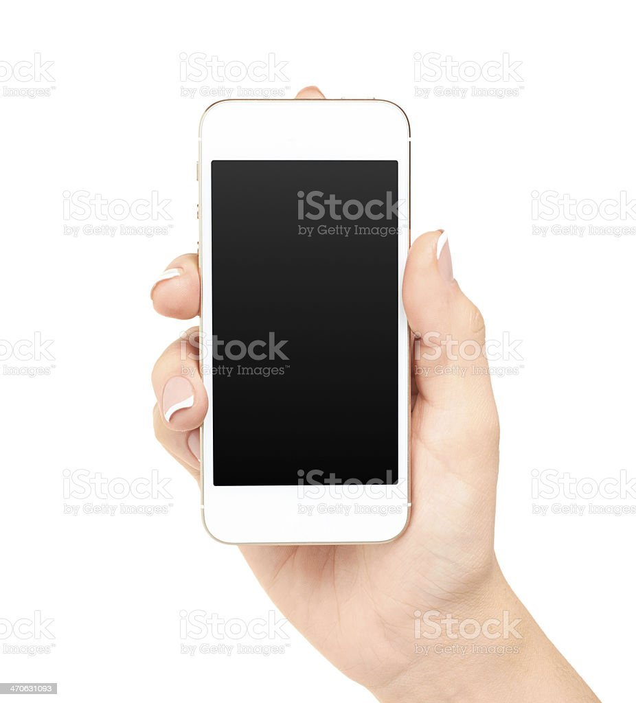 Phone in hand royalty-free stock photo