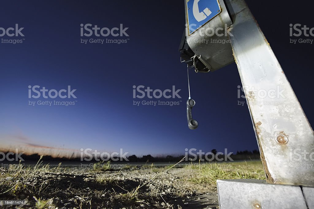 Phone in the Middle of Nowhere royalty-free stock photo