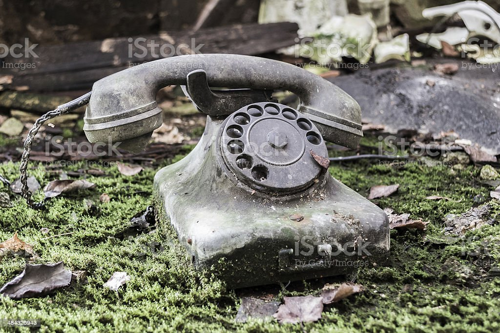 Phone in the nature stock photo