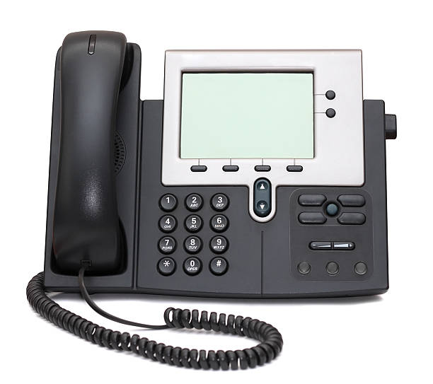 IP Phone isolated on white stock photo
