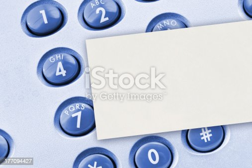 istock Phone keypad and paper card 177094427