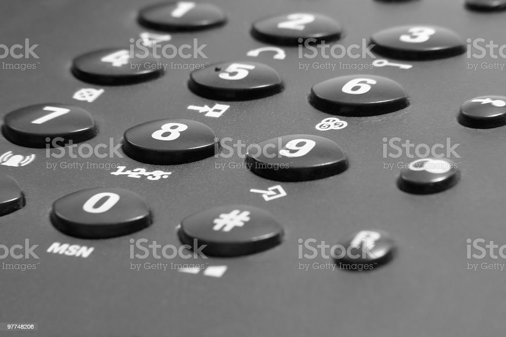 Tastenblock des Telefons detail – Foto
