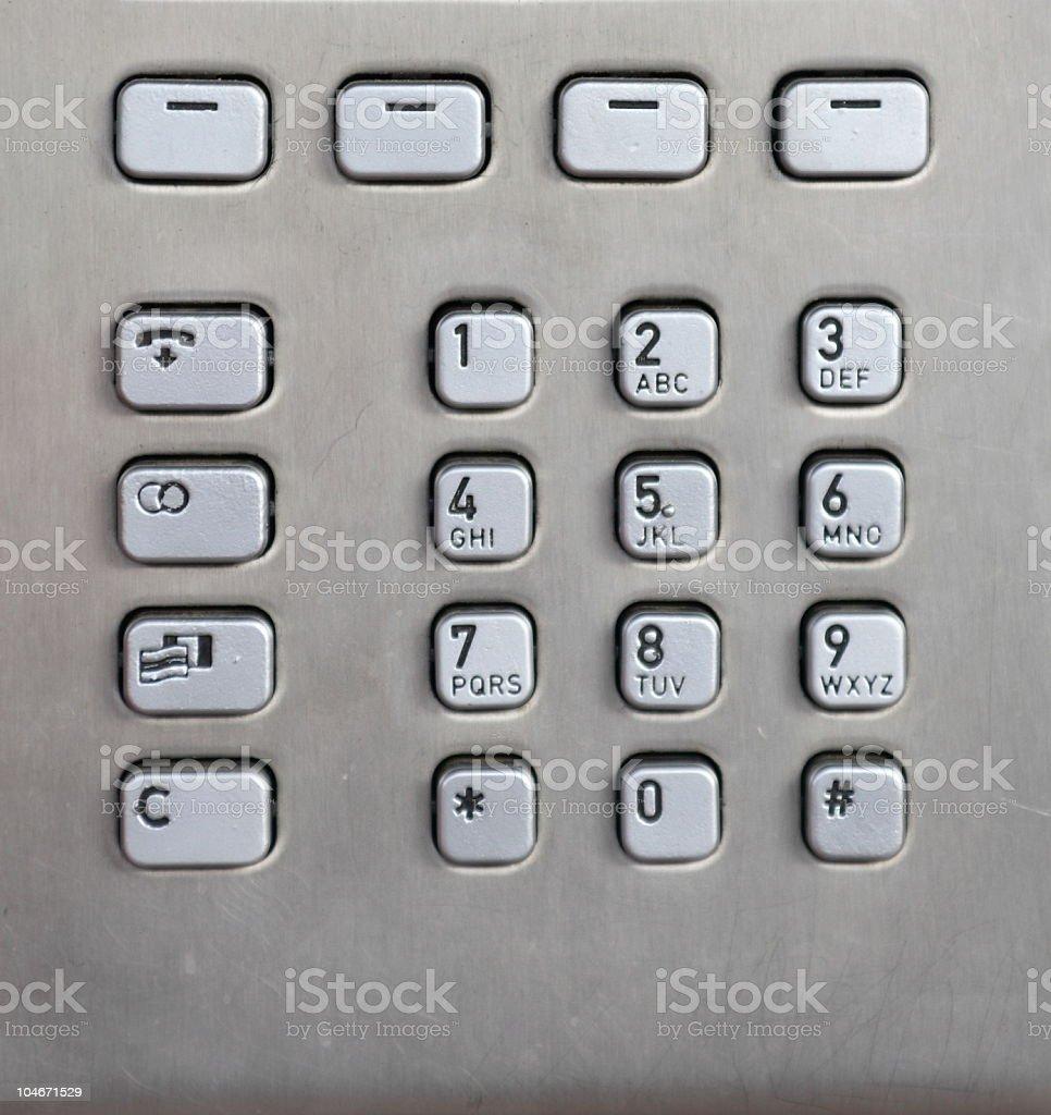 Phone Keypad royalty-free stock photo