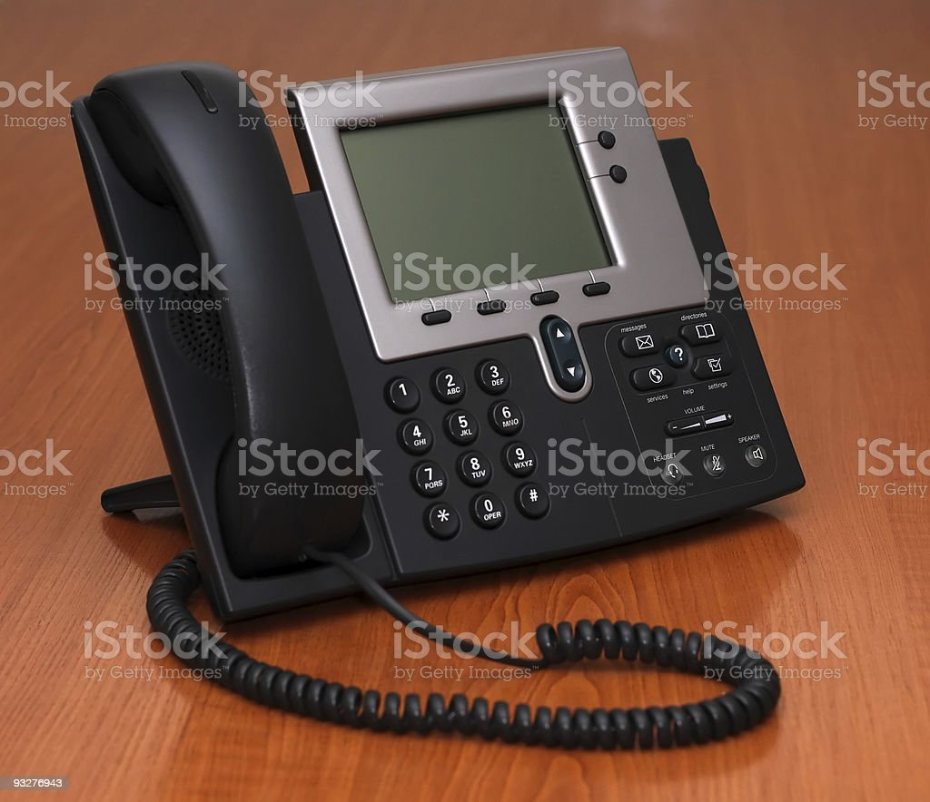 IP Phone on a table royalty-free stock photo