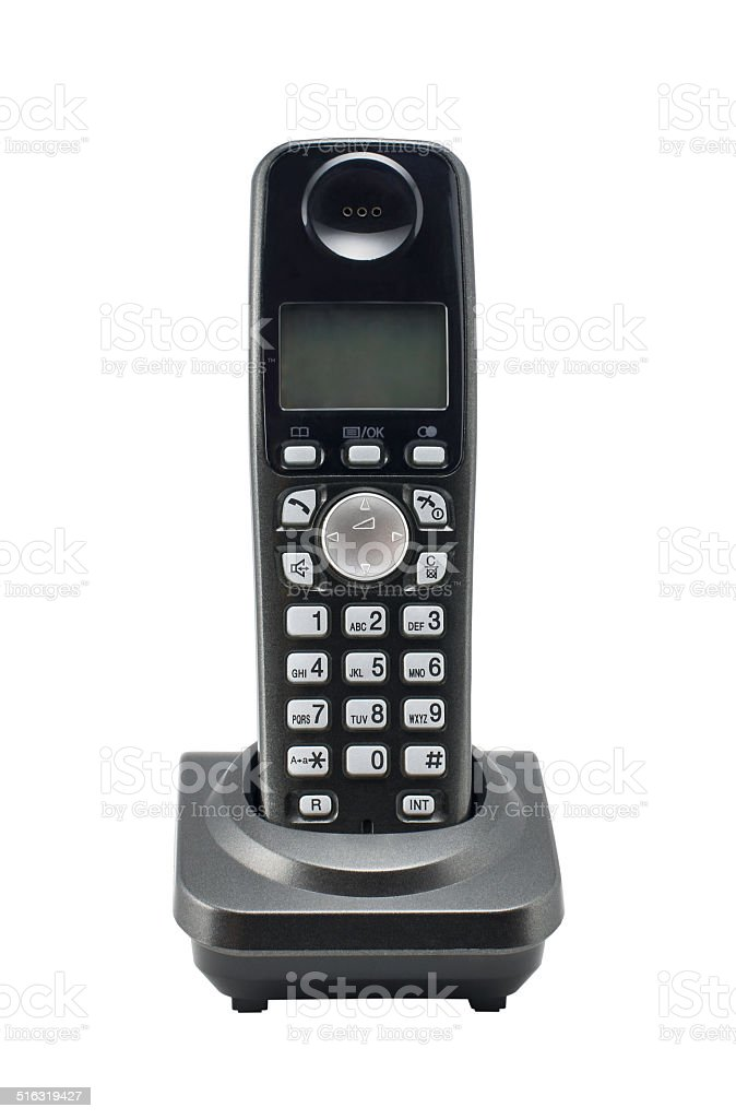 Phone on stand stock photo
