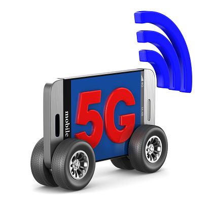 5gtelefoon Op Witte Achtergrond Geïsoleerde 3d Illustratie Stockfoto en meer beelden van 5G