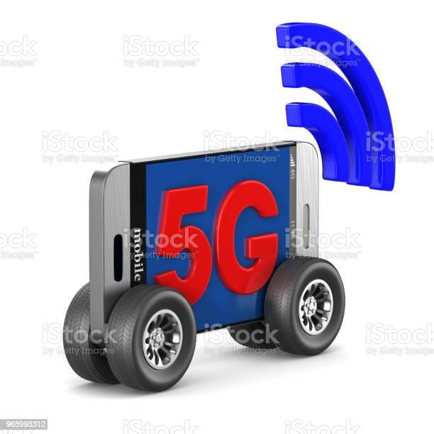 5g Telefon Auf Weißem Hintergrund Isolierte 3dillustration Stockfoto und mehr Bilder von 5G