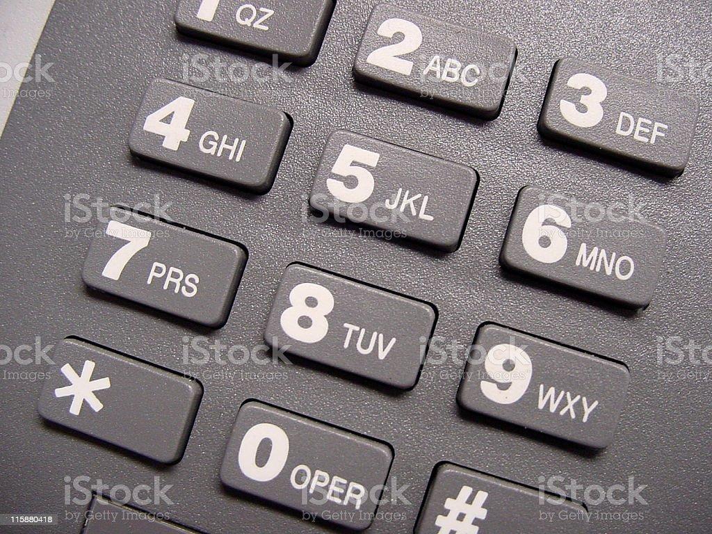 Phone Pad Close Up royalty-free stock photo