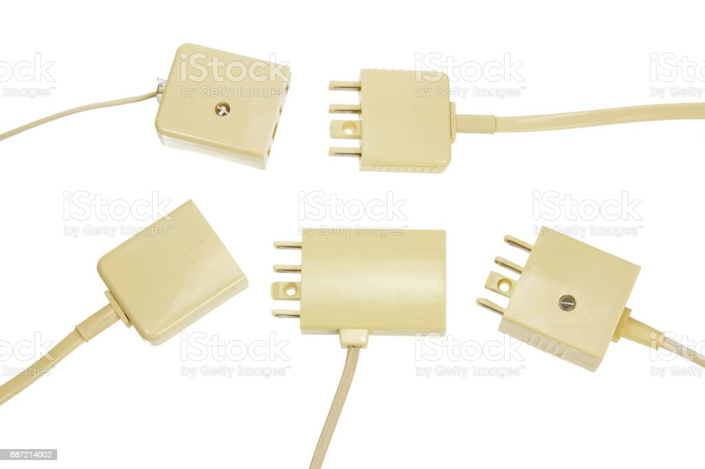 Phone Plugs stock photo